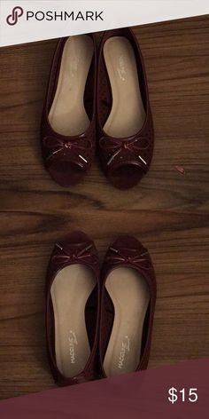 Open Toe Flats Flats with squishy bottom. Open toe and cute design. Maroon dark purple color Madeline Stuart Shoes Flats & Loafers
