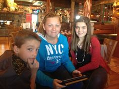 our three at Famous Daves