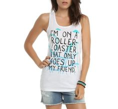 """The Fault In Our Stars Roller Coaster"" Girls Tank Top"