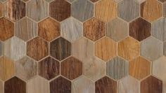"Wooden hexagonal tiles. ""AnTeak"" by Walker Zanger"