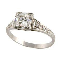 Edwardian Engagement ring. thumbnail 1