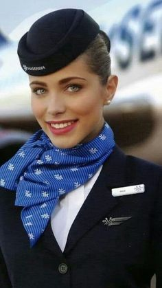 Air Serbia cabin crew uniform