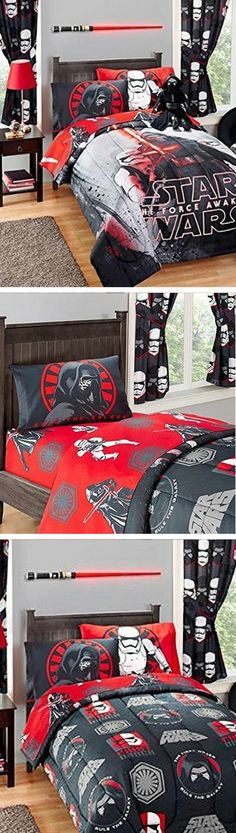 Star Wars Twin Reversible Comforter Bedding #starwars #bedding #home #comforter