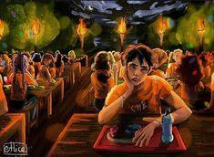 Percy Jackson Ships, Percy Jackson Fan Art, Percy Jackson Memes, Percy Jackson Fandom, Tio Rick, Uncle Rick, Percy Jackson Characters, Daughter Of Zeus, The Lightning Thief