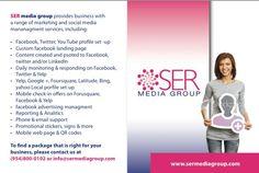 SER Media Group Social Media Flyer