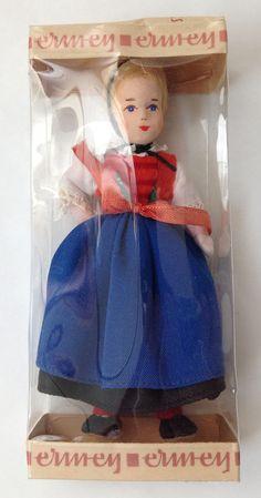New MIB Vtg Miniature Ermey Erna Meyer Dollhouse Lady Doll Hessen Germany MIG  #Ermey