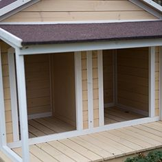 Want this:  Antique Large Dog House W Roof Solid Wood Penthouse Kennels Crates Duplex 51x43x43 W Balcony  Ez Entrance for Two Dogs