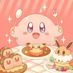 Cute Pokemon Wallpaper, Cute Anime Wallpaper, Cute Cartoon Wallpapers, Animes Wallpapers, Cute Kawaii Drawings, Kawaii Art, Kawaii Anime, Kirby Nintendo, Kirby Pokemon