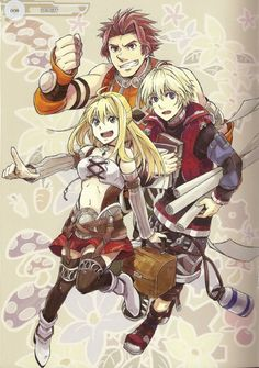 Xenoblade Chronicles - Time for work! (Reyn,Fiora and Shulk)