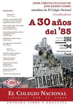 Simposio a 30 Años de los sismos de 1985 en la Cd. de México.