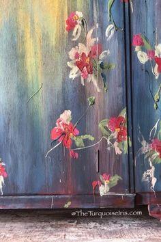 - February 01 2019 at Blue Painted Furniture, Distressed Furniture, Painted Dressers, Vintage Furniture, Exterior Door Hardware, Sliding Barn Door Hardware, Diy Painting, Painting On Wood, Furniture Makeover