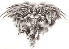 Ozzy Tattoo, Mark Tattoo, Tattoo Sleeve Designs, Tattoo Designs Men, Sleeve Tattoos, Tribal Cross Tattoos, Archangel Tattoo, Behind Ear Tattoos, Clock Tattoo Design