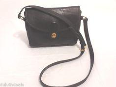 Vintage Coach Shoulder Bag Purse Handbag Flap Closure Black