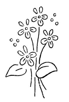hand embroidery patterns for beginners Hand Embroidery Patterns Free, Border Embroidery Designs, Hand Embroidery Flowers, Embroidery Transfers, Vintage Embroidery, Embroidery Stitches, Embroidery Sampler, Flower Vase Making, Vintage Patterns