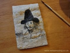 Eats Amazing - Guy Fawkes portrait painted on a quesadilla with food colouring