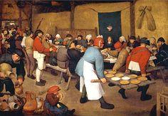 Pieter Brueghel the Elder (Belgian painter, 1525-1569) The Wedding Feast, the Netherlands 1568