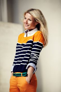 Gwyneth Paltrow in this Step Up Orange #girlskickass @juicycouture
