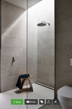 Curb-less shower, large format tile, linear drain Shower Floor Tile, Shower Drain, Drain Tile, Timber Slats, Shower Tile Designs, Large Format Tile, Modern Shower, Concrete Wall, Decoration