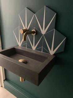 Small Downstairs Toilet, Small Toilet Room, Small Bathroom Sinks, Downstairs Bathroom, Modern Bathroom, Small Toilet Design, Small Sink, Small Bathroom Designs, Minimalist Bathroom