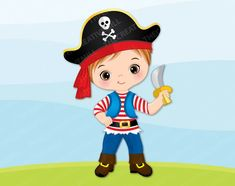 Pirate Boy Clipart Vector Pirate Clipart Boy Clipart   Etsy