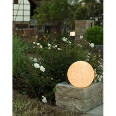 LEUCHTKUGEL 30cm MUNDAN GRANIT von HEITRONIC Kugelleuchte Lichtkugel Garten