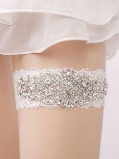 18ed637d0 Laço De Noiva De Noiva Branco Pedrinhas De Casamento Mulheres Lingerie Sexy  Acessórios