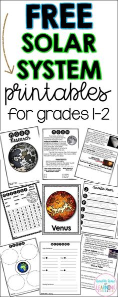 Support your solar system learning with FREE Solar System printables, a sample of resources for grades 1 and 2 from our MEGA pocketbook unit bundle! Solar System Activities, Space Activities, Nonfiction Activities, Interactive Activities, Science Lessons, Teaching Science, Teaching Ideas, Science Ideas, Teaching Activities