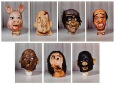 Paul McCarthy   Masks (Small) from the Propo series (portfolio of 7) (1994)   Artsy Paul Mccarthy, Weird Creatures, Art Portfolio, Contemporary Artists, Art Day, Horror, Lion Sculpture, Auction, Statue