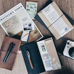 """Traveler on Instagram: """"Decided to get a Traveler's Notebook as my current one is getting too thick, I was like """"I need a new one because I squeezed 5 books in there"""" the friendly shopkeeper at @stickerrific went """"Oh, too thick"""". I was thinking """"more like I'm too 'greedy'..."""""""""""
