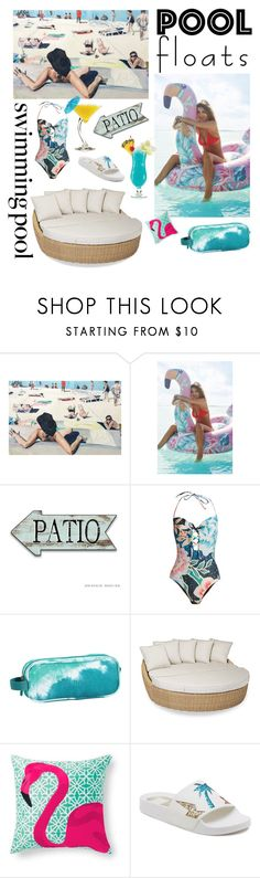 """Pool party"" by lilimia ❤ liked on Polyvore featuring interior, interiors, interior design, home, home decor, interior decorating, Urban Outfitters, Mara Hoffman, PBteen and Sunset West"