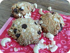 Cookies noix de coco-chocolat- noix de cajou (vegan, IG bas)