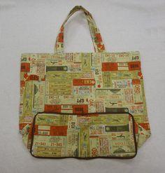 清秀佳人布坊 - 手作教學 - 拉鍊收納環保購物袋