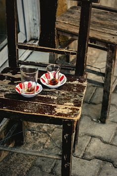 Traditional tea cups in Turkey.