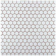 Merola Tile Metro Hex 2 in. Matte White 10-1/2 in. x 11 in. x 5 mm Porcelain Mosaic Tile (8.02 sq. ft. / case) FXLM2HMW at The Home Depot - Mobile