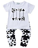 Amazon.com: Newborn Baby Boy Girl Warm Striped Hoodie T-shirt Pants Outfit Set Kids Clothes: Baby