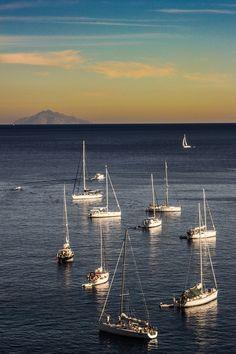 Circle of boats