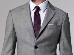 The Essential Gray Suit by Indochino. There's not a single thing I don't like about this suit. Fashion Font, Mens Fashion, Tailor Made Suits, Mens Suits, Grey Suits, Gray Tux, Suit Men, Groom And Groomsmen, Groomsman Attire