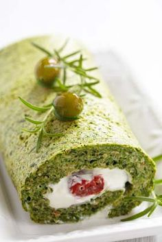 Gluten Free Spinach and Herb Roulade