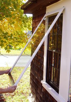 Use these instead of the old window screens on windows that are never opened. This Old Farmhouse: The Wooden Storm Window Project Canopy Bedroom, Diy Canopy, Canopy Tent, Office Canopy, Ikea Canopy, Hotel Canopy, Window Canopy, Beach Canopy, Curtains