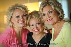 The bride, her mom and sister were so much fun allowing us to give them a touch of classic Hollywood glam.