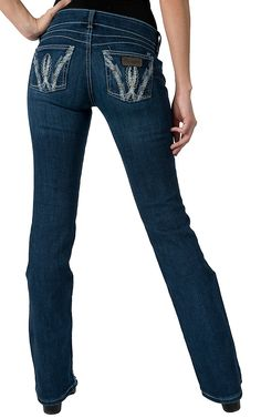 Wrangler® Women's Mae Premium Patch Above Hip Rise Boot Cut. My FAVORITE jeans!!! Amazing fit!