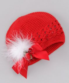 Take a look at this Red Christmas Crochet Beanie by Truffles Ruffles on #zulily today!
