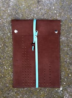 elegant brown leather iPad case