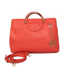 http://www.pinterest.com/search?q=FallingInLoveWithMK  Michael Kors Leather Medium Red Totes More Surprises Are Waiting You Here!