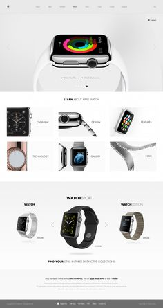 Web Design of 2014 Apple Watch Facelift by Michael MartinhoApple Watch Facelift by Michael Martinho Ecommerce Web Design, Web Ui Design, Best Web Design, Web Design Gallery, Modern Web Design, Apple Watch, Apple Tv, Apple Menu, Apple Logo