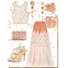 Summer Formal by easy-dressing on Polyvore featuring Etro, Dries Van Noten, Christian Louboutin, Oscar de la Renta and Nouvelle Bague