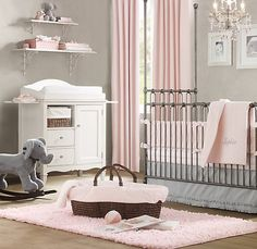 love grey and pink for a little girls room