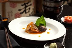 Sautéed prawn and foiegras drizzled with miso sauce at Blow Fish