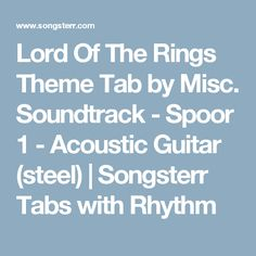 Lord Of The Rings Tab Songsterr