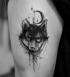 Blackwork tattoos are growing in popularity and we're loving every minute of it! Here are some our top picks for black Kurt Tattoo, 4 Tattoo, Forearm Tattoo Men, Piercing Tattoo, Piercings, Tattoo Wolf, Top Tattoos, Black Tattoos, Body Art Tattoos